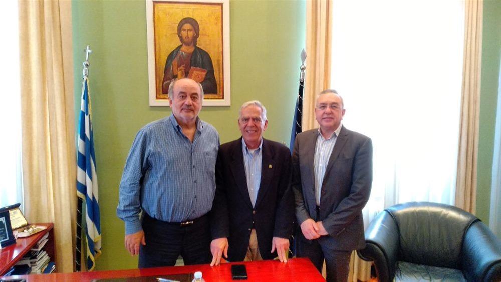 Επίσκεψη του Χ.Αηδονόπουλου στο Επαγγελματικό Επιμελητήριο Θεσσαλονίκης