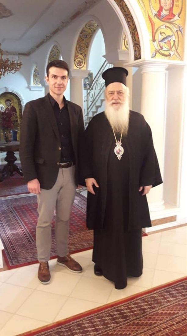 Συνάντηση του Αλέξανδρου Διαμαντόπουλου με τoν Μητροπολίτη Παντελεήμων