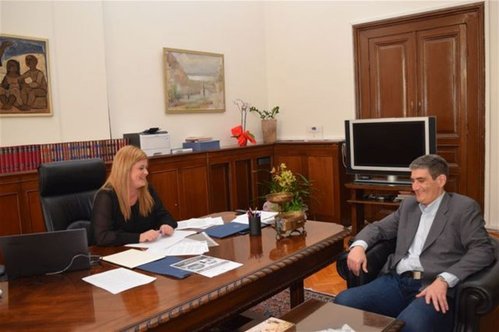 Συνάντηση Ελ. Χατζηγεωργίου με τον Χρήστο Γιαννούλη