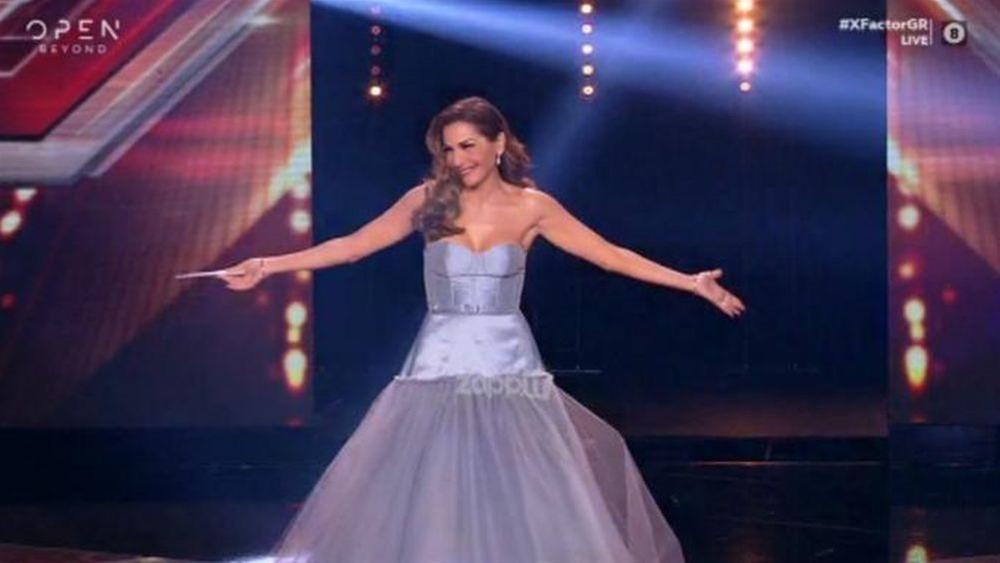 «Mάγεψε» η Δέσποινα Βανδή με την λαμπερή της εμφάνιση στο X Factor (video)