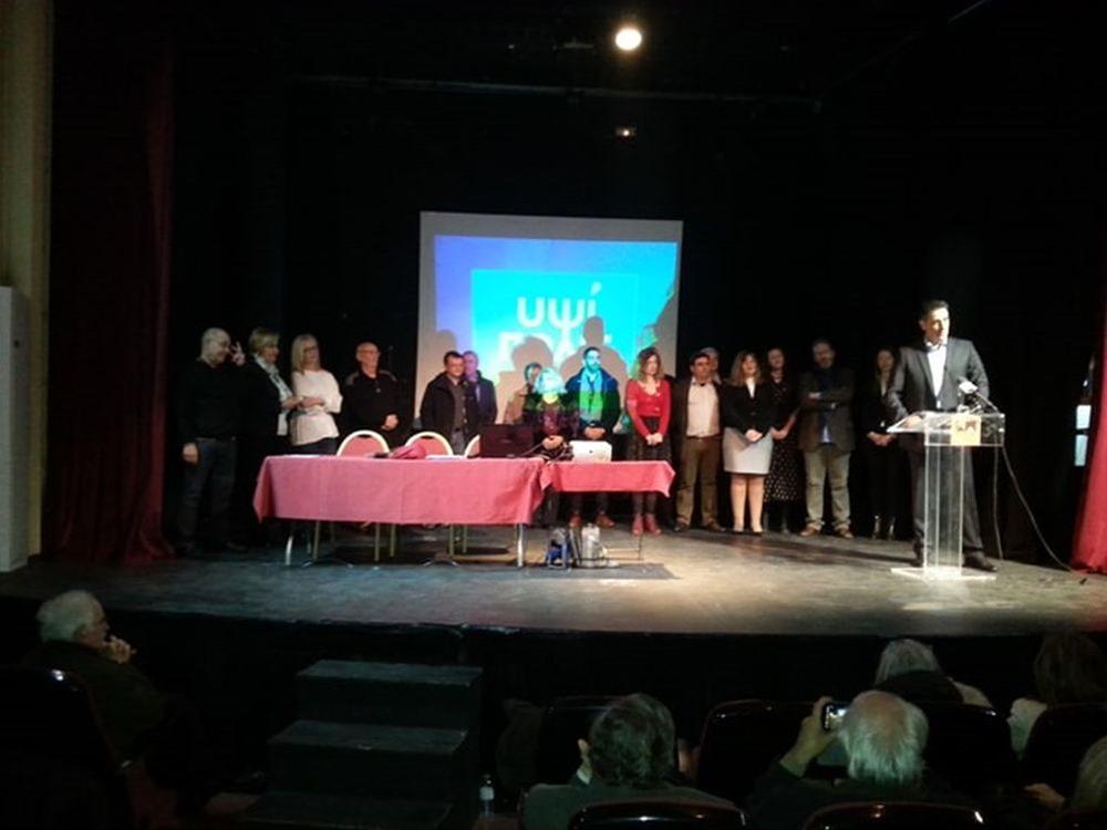 Ο Γρ. Ζαρωτιάδης παρουσίασε τους πρώτους είκοσι υποψηφίους του
