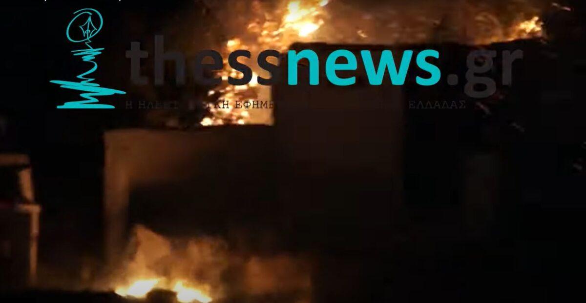 Θεσσαλονίκη: Σε επιφυλακή η πυροσβεστική μετά την φωτιά στην Ευκαρπία – Απειλήθηκαν σπίτια (ΦΩΤΟ+VIDEO)