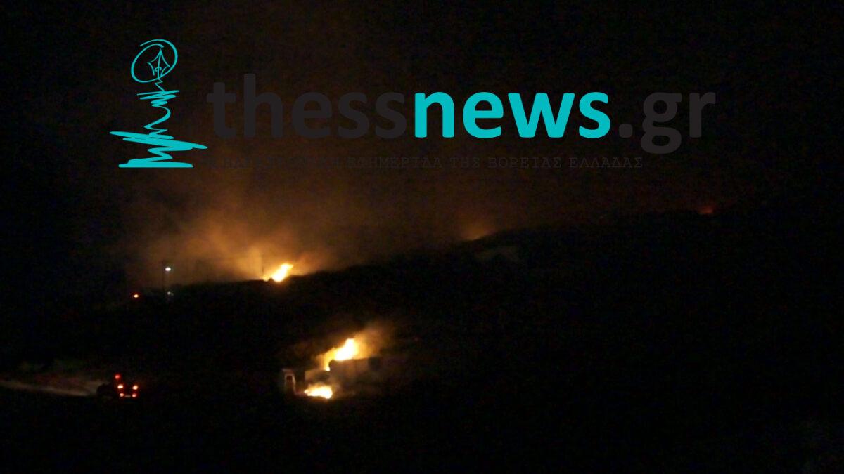 Θεσσαλονίκη: Οριοθετήθηκε η φωτιά στην Ευκαρπία (video)