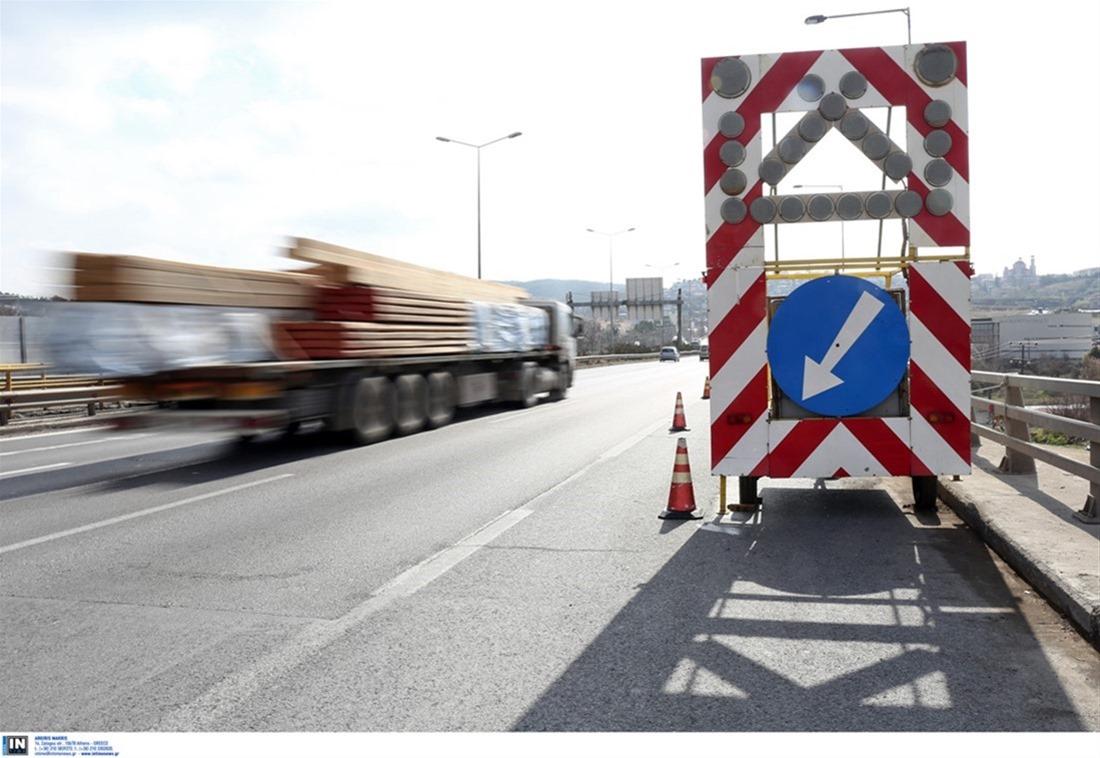 Εργασίες κοπής πρασίνου στην Εθνική Οδό  Θεσσαλονίκης-Νέων Μουδανίων