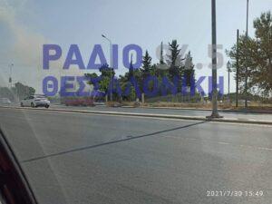 Θεσσαλονίκη:  Φωτιά σε λεωφορείο στα Πράσινα Φανάρια (ΦΩΤΟ+VIDEO)