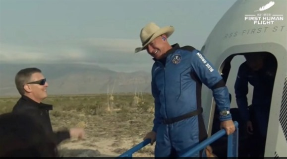 Πήγε και ήρθε στο διάστημα ο Τζεφ Μπέζος