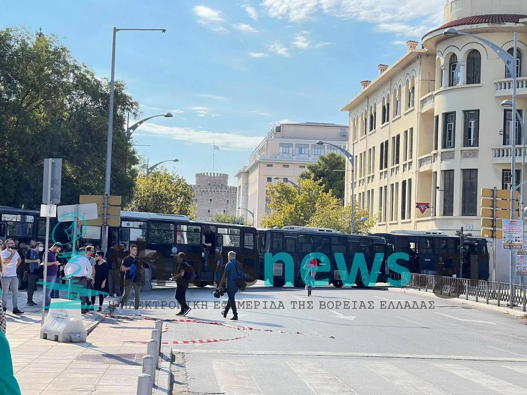 «Φρούριο» το κέντρο της Θεσσαλονίκης ενόψει διαδηλώσεων (ΦΩΤΟ+VIDEO)