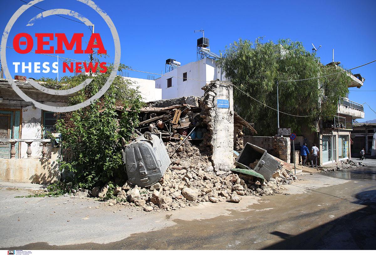 Ακατάλληλα το 85% των κτιρίων μετά το σεισμό στην Κρήτη – Ο Δήμαρχος Μινώα Πεδιάδος στη Thessnews