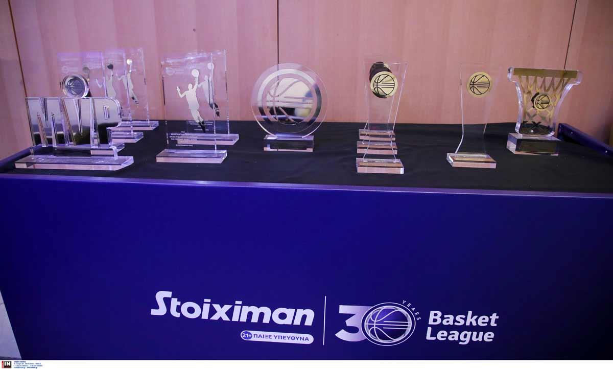 Οι βραβεύσεις των κορυφαίων της Stoiximan Basket League 2020/21