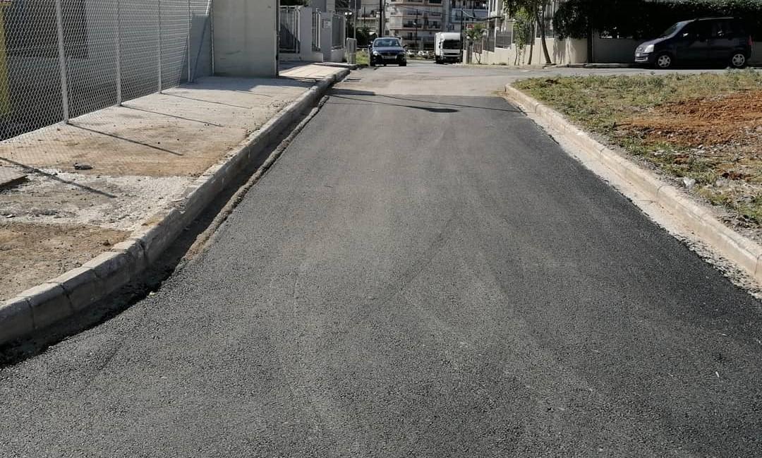 Δήμος Κορδελιού – Ευόσμου: Aσφαλτοστρώνονται δρόμοι άνωθεν του Περιφερειακού