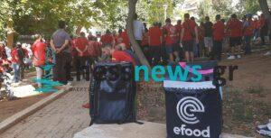 Θεσσαλονίκη: Η σημερινή (22/09) κινητοποίηση των εργαζομένων στην efood