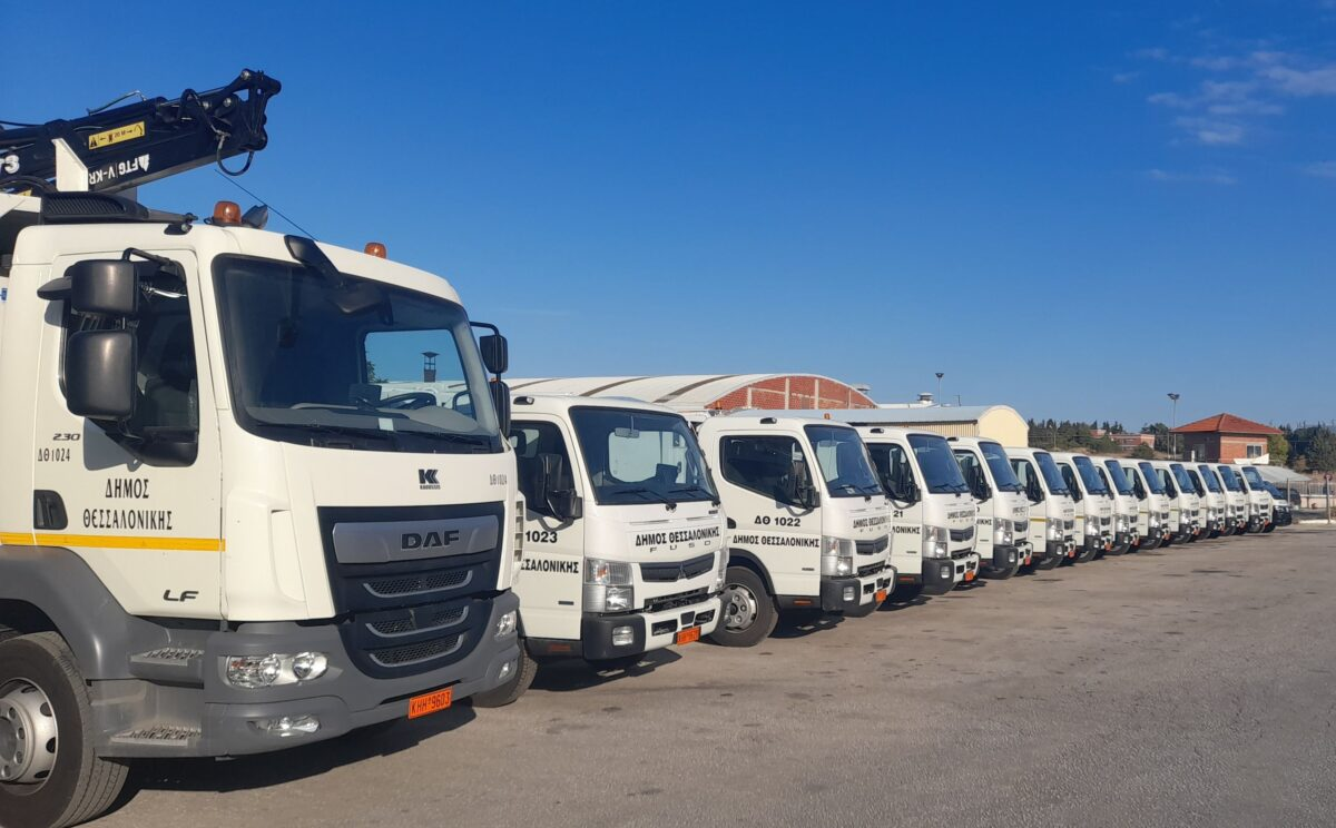 Δήμος Θεσσαλονίκης: Νέα οχήματα στον στόλο της καθαριότητας