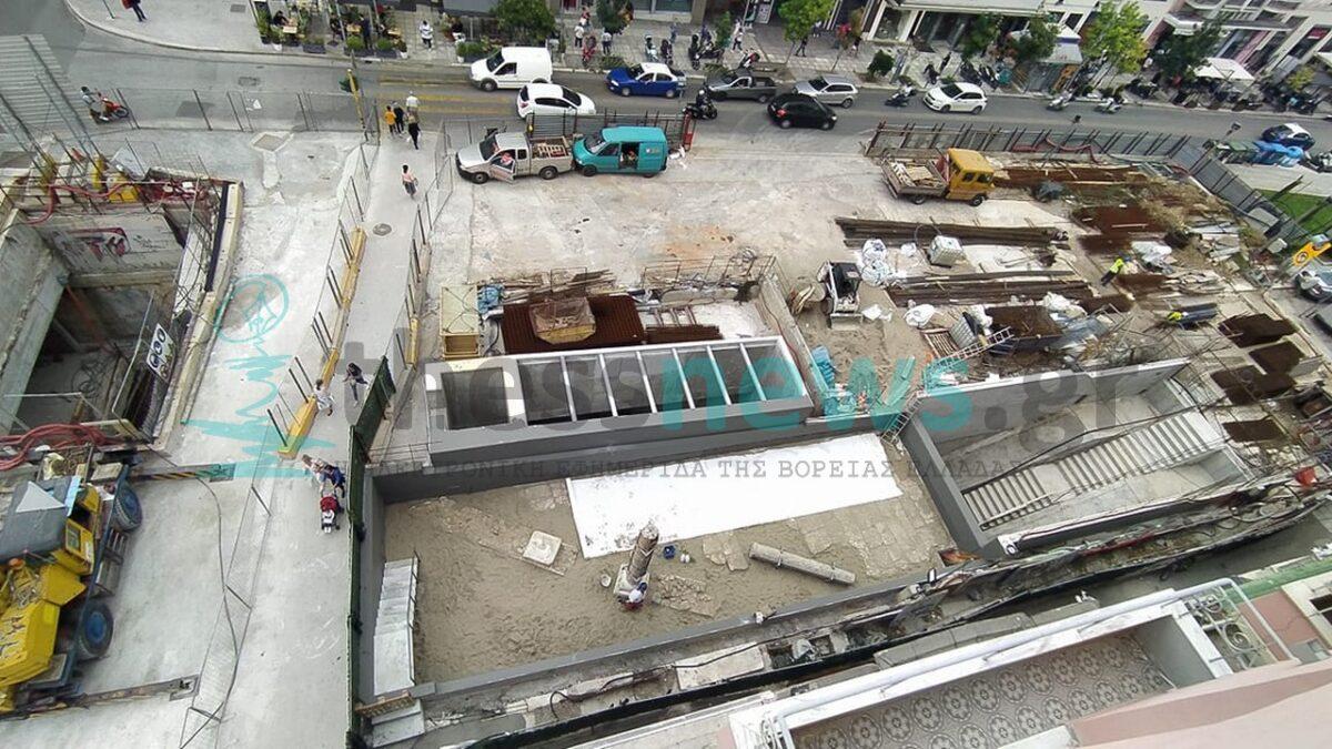 Επανατοποθέτηση αρχαιοτήτων στο σταθμό Αγ. Σοφίας του Μετρό Θεσσαλονίκης (ΦΩΤΟ)