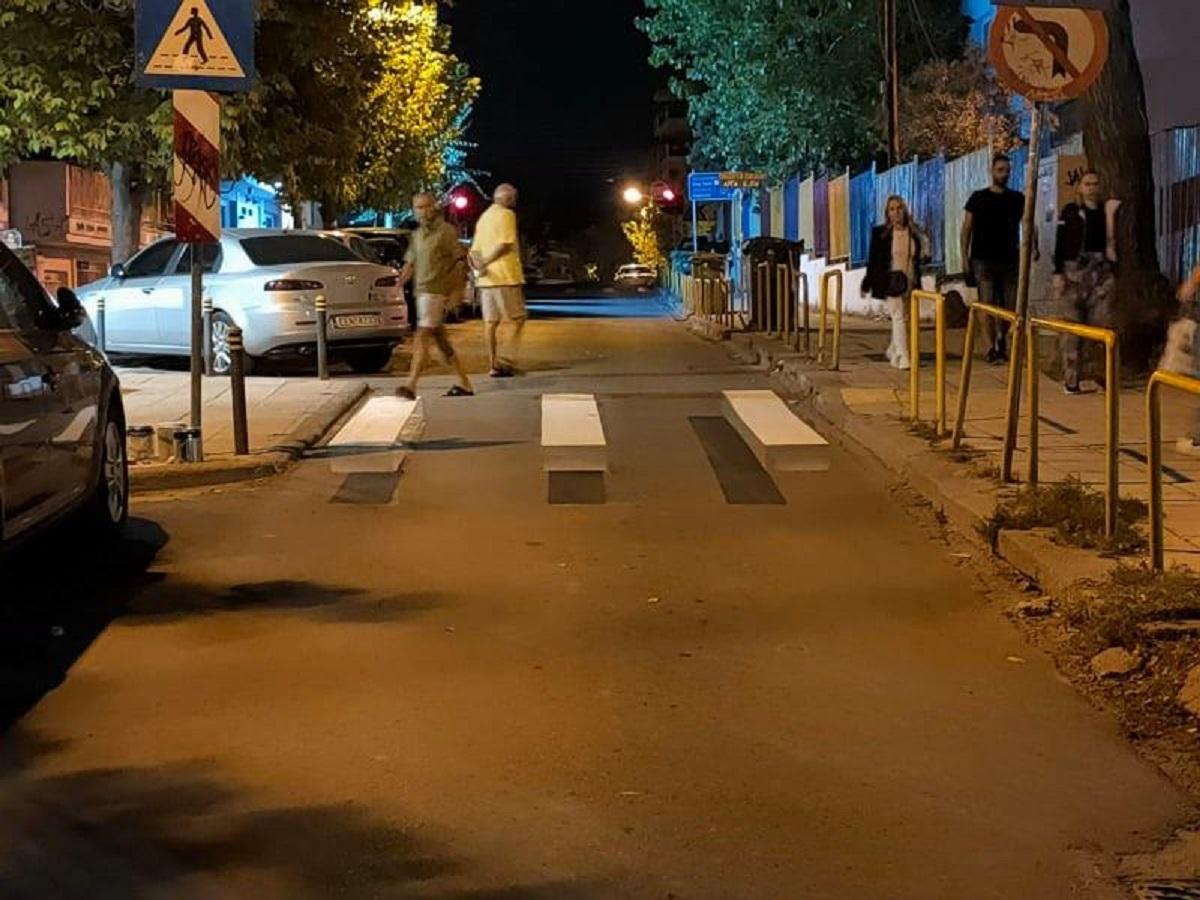 Καλαμαριά: Βόλτα χωρίς αυτοκίνητα στην Πλαστήρα, ποδηλατάδα και τρισδιάστατες διαβάσεις (ΦΩΤΟ)