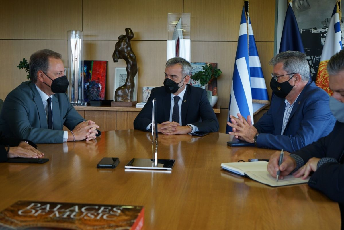 Συνάντηση Κ. Ζέρβα με τον Υπουργό Αγροτικής Ανάπτυξης και Τροφίμων