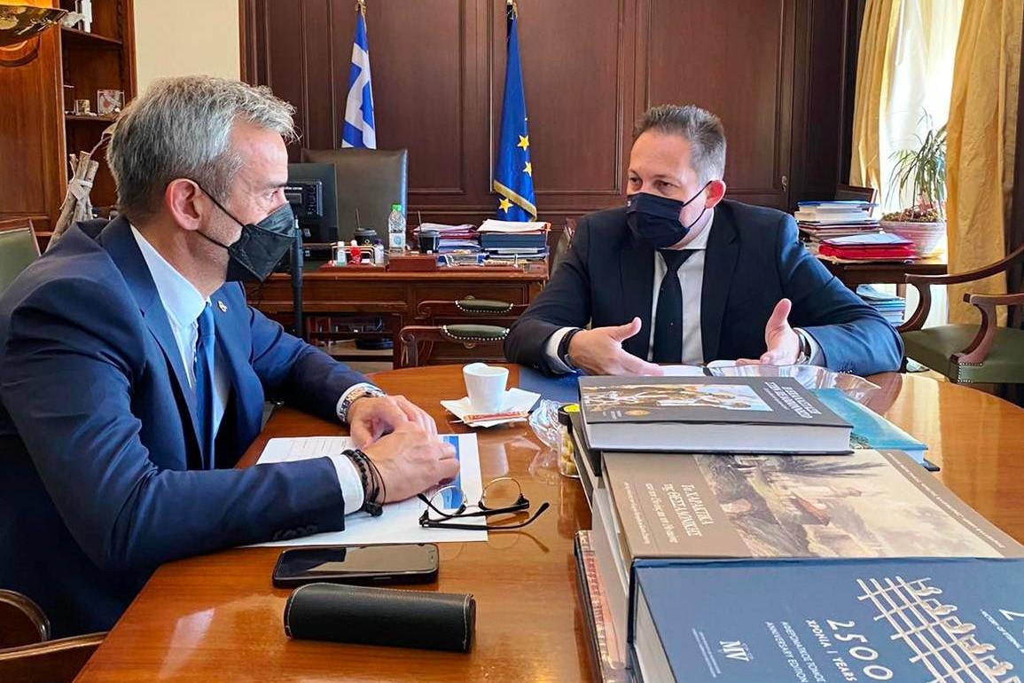 Συνάντηση του Κ. Ζέρβα με τον Στ. Πέτσα στην Αθήνα