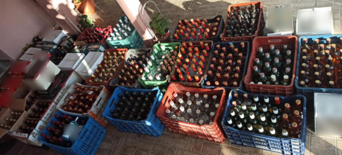 Εγκληματική ομάδα «έβαζε» στην ελληνική αγορά πάνω από 1.200 φιάλες παράνομων ποτών από τη Βουλγαρία