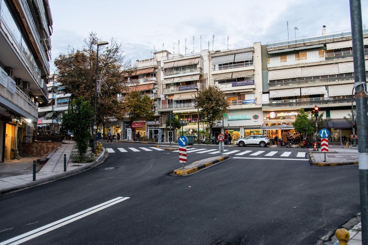 Θεσσαλονίκη: Ολοκληρώθηκε η ασφαλτόστρωση στις οδούς Βενιζέλου και Ελευθερίας στην Τριανδρία (ΦΩΤΟ)