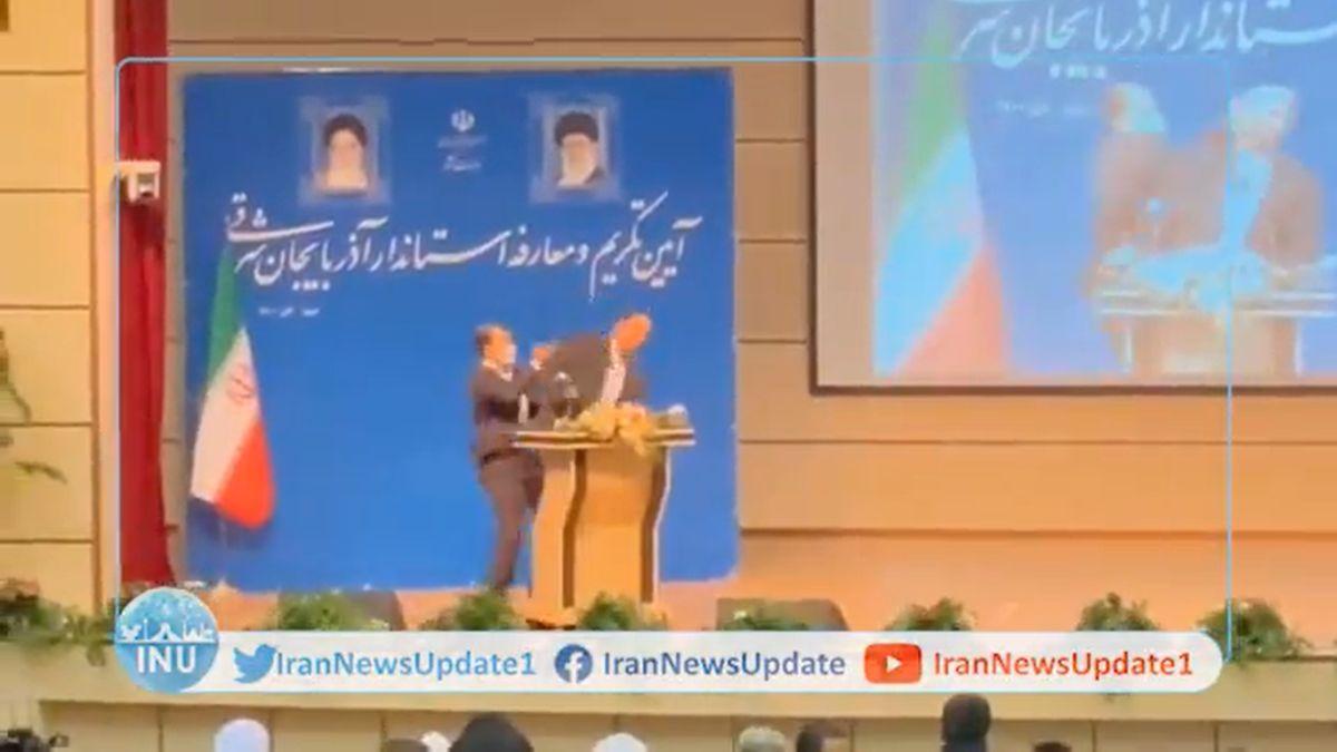 Ιράν: Άνδρας χαστουκίζει τον νέο κυβερνήτη την ώρα της ορκωμοσίας του (VIDEO)