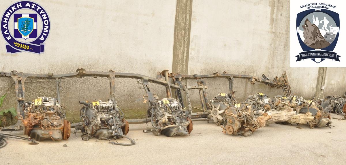 Κλεμμένοι κινητήρες αυτοκινήτων σε συνεργείο στην Πυλαία Θεσσαλονίκης
