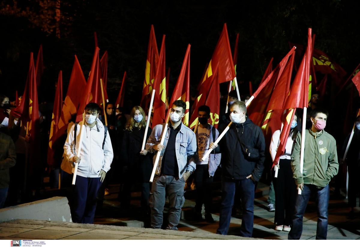 Θεσσαλονίκη: Aντιφασιστική πορεία από μέλη του ΚΚΕ στους δρόμους της Σταυρούπολης(ΦΩΤΟ)
