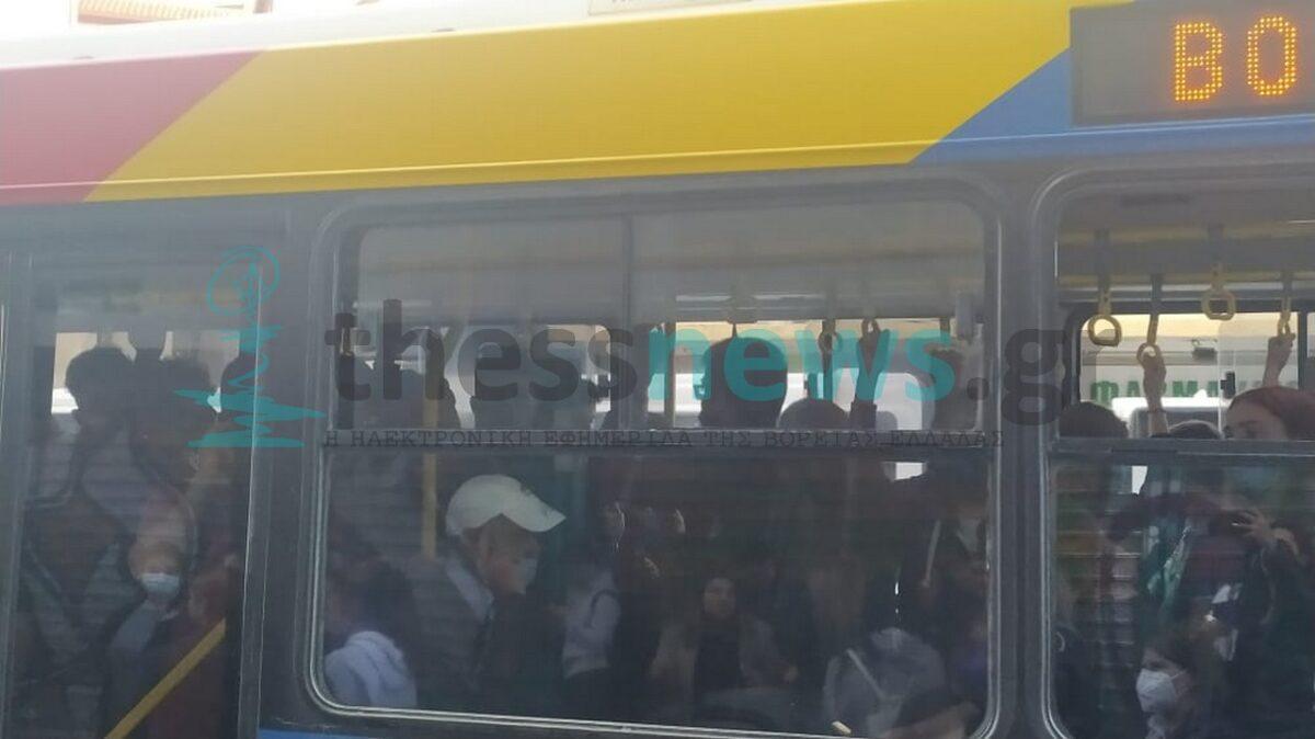 Το αδιαχώρητο για άλλη μια φορά στον ΟΑΣΘ – «Σαρδέλες» οι επιβάτες (ΦΩΤΟ)