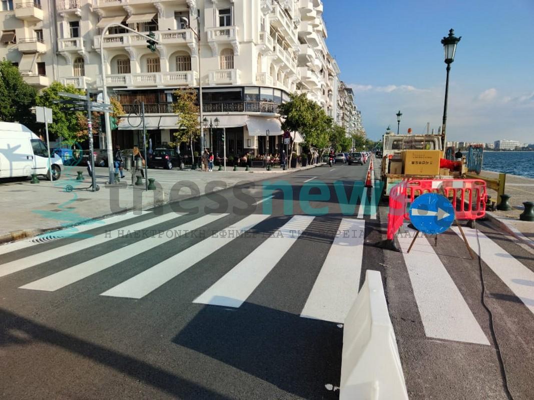 Θεσσαλονίκη: Δόθηκε ξανά σε κυκλοφορία η Λ. Νίκης-Τα έργα θα συνεχιστούν αύριο (ΦΩΤΟ+VIDEO)