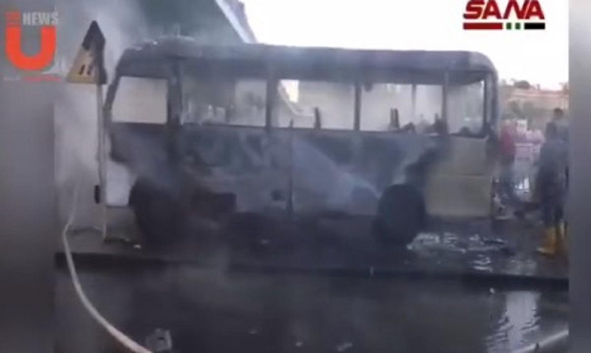 Συρία: Έκρηξη σε στρατιωτικό λεωφορείο – 13 νεκροί και τρεις τραυματίες (ΦΩΤΟ+VIDEO)