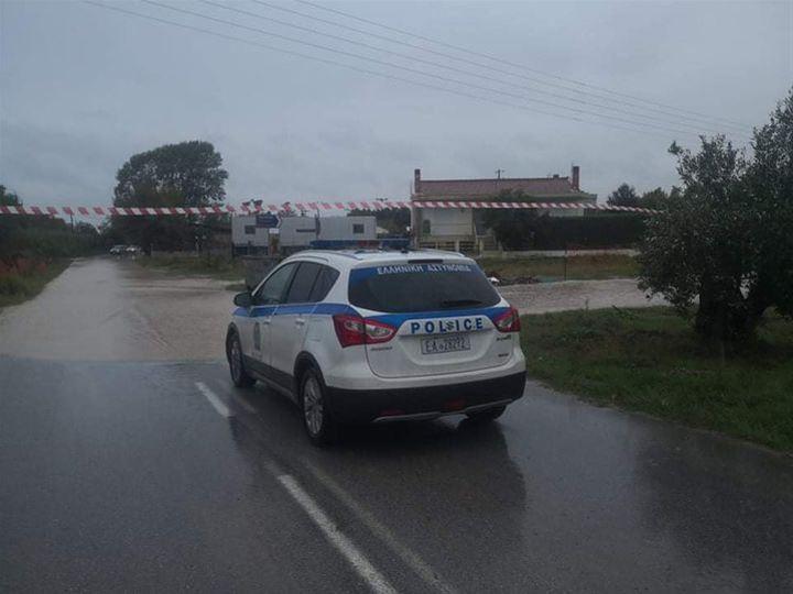 Πλημμύρισε δρόμος στην Νέα Ηράκλεια