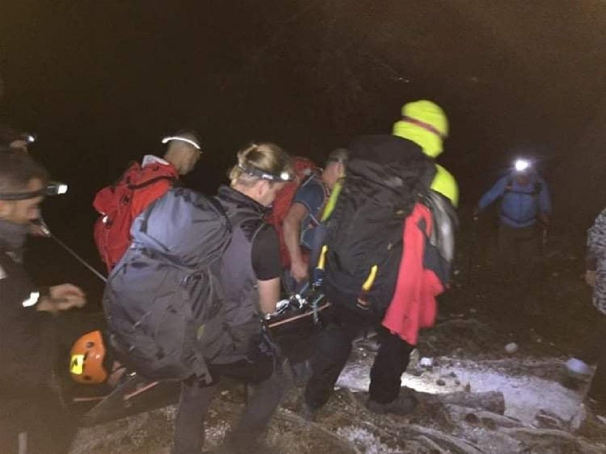 Διάσωση ορειβάτη στον Όλυμπο – Επιτυχημένη η επιχείρηση (ΦΩΤΟ)