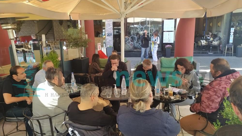 Πλ. Αριστοτέλους: Συνάντηση Πατουλίδου-επιχειρηματιών για την ηλεκτροδότηση (ΦΩΤΟ+VIDEO)