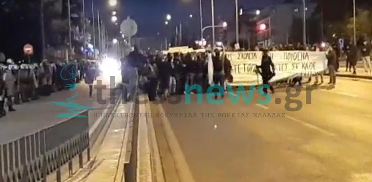 Θεσσαλονίκη: Πορεία στην Σταυρούπολη από αντιεξουσιαστές (ΦΩΤΟ+ BINTEO)