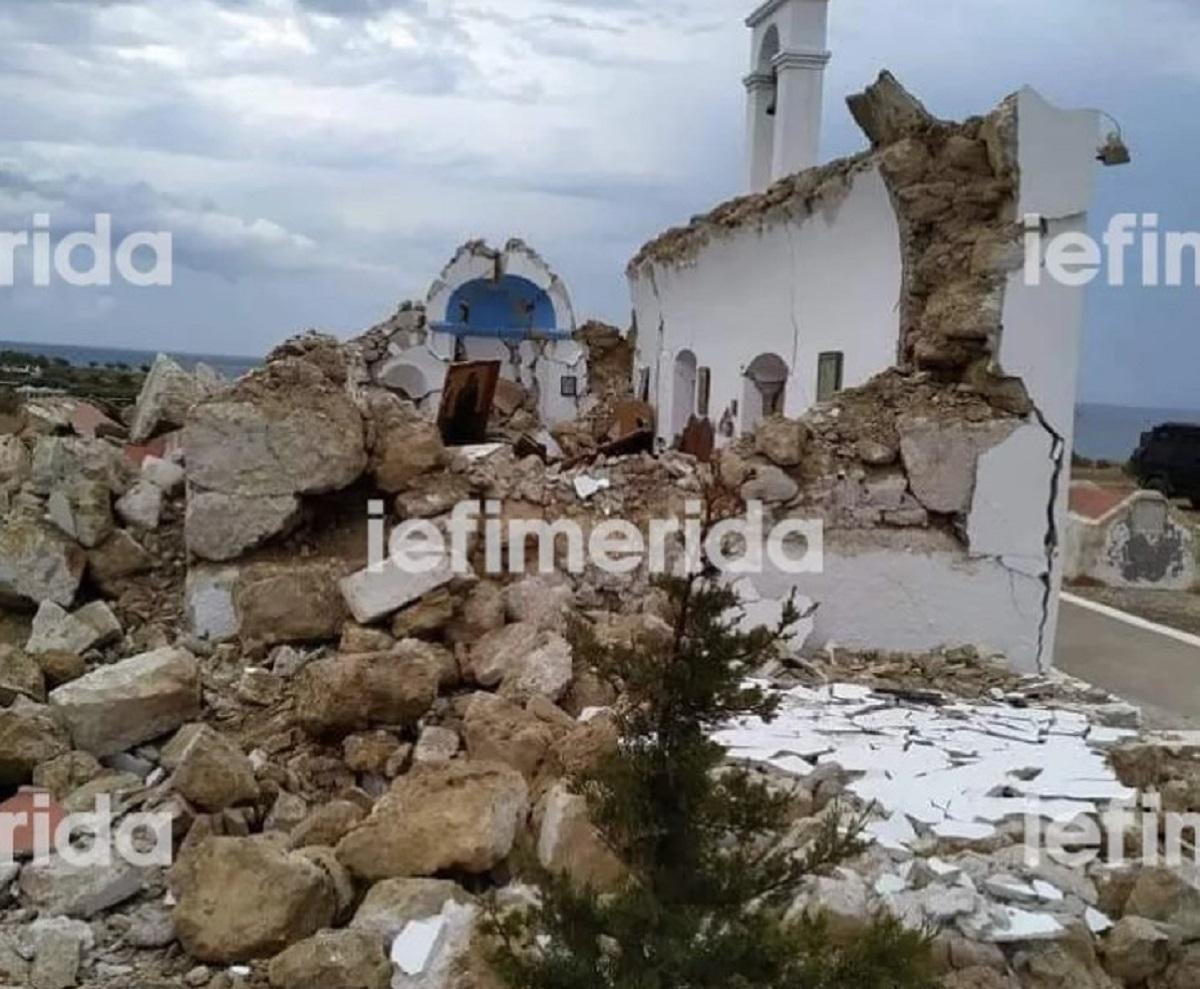 Νέος σεισμός 6,3 Ρίχτερ στην Κρήτη – Ζημιές και κατάρρευση εκκλησίας